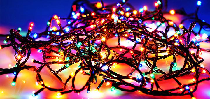 Гірлянда нитка новорічна 400 лампочок мульти колір