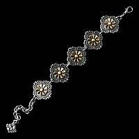"""Женственный металлический браслет """"Анфилада"""" (вставка - бронза)"""