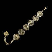 Браслет в этно-тематике Лантана (античное золото)