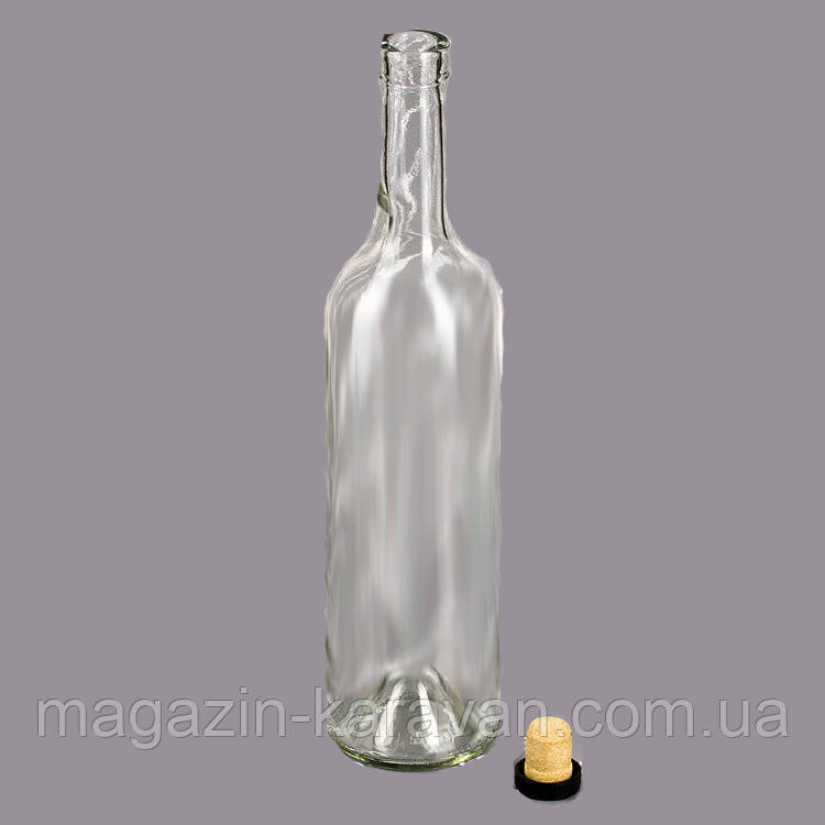 Бутылка винная 0,75 л бесцветная 20шт