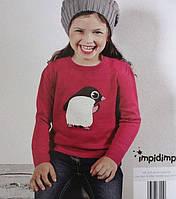 Красивая кофта для девочки малинового цвета