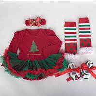Новогодний наряд для девочки с пышной юбкой Tu-Tu