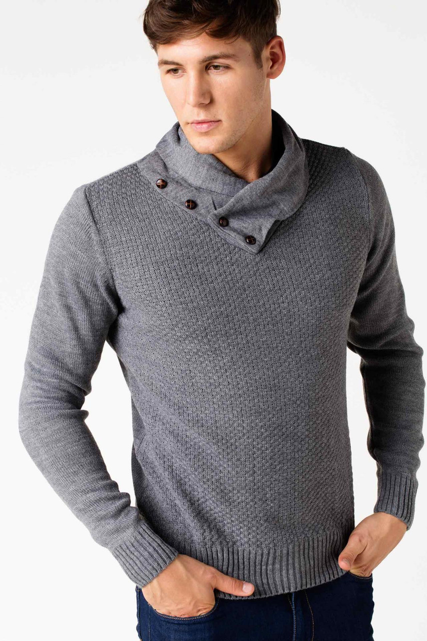 af61c0ae02baf Мужской свитер De Facto серого цвета с воротником хомут, цена 625,34 грн.,  купить в Днепре — Prom.ua (ID#418394719)