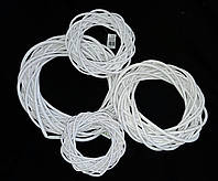 Белый веночек из лозы, 25 см., 85