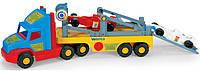 Игрушечная машинка Тягач-эвакуатор с гоночными болидами Super Truck Wader (36620)