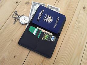 Мужской черный кошелёк обложка ручной работы VOILE vl-cvw2-blk-blk, фото 3