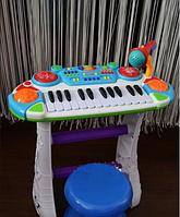 Пианино - синтезатор со стульчиком Joy Toy 7235 голубое