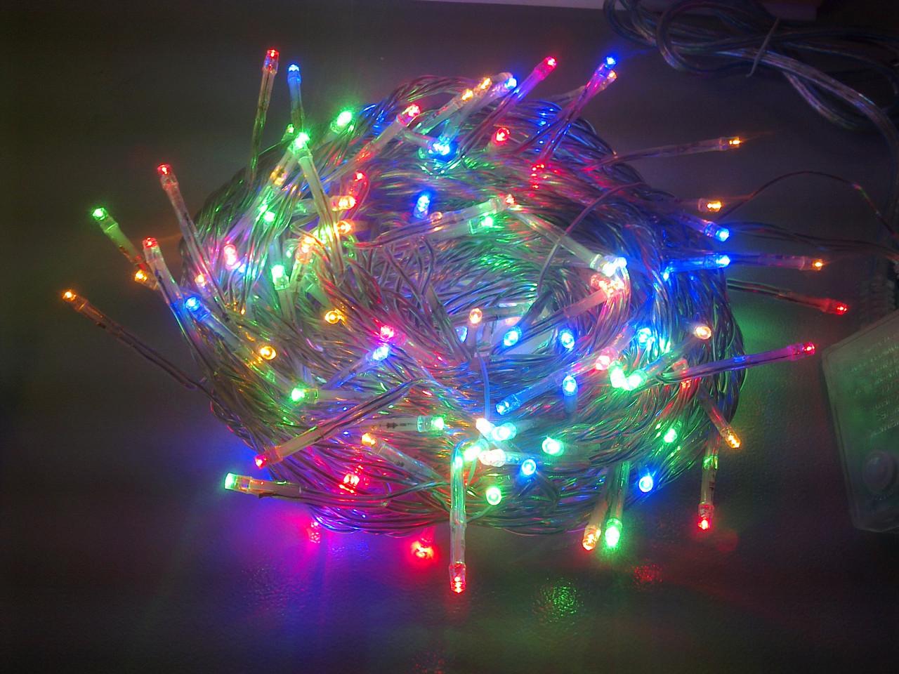 Гирлянда нить светодиодная 700 LED мульти цвет