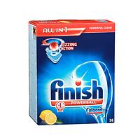 FINISH Lemon Таблетки для мытья посуды в посудомоечных машинах с лимонным ароматом 56 шт