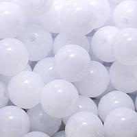 Бусины акрил желе, белый, 6 мм ( 450шт) УТ0005744