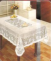 Скатерть Винил 120-150 размер белая, фото 1