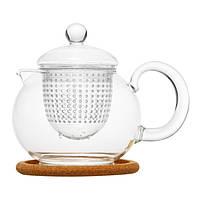 "Чайник стеклянный ""Пион"" 800 мл"