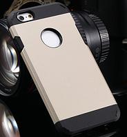 Стильный чехол бампер для iPhone 5 5S золотистый