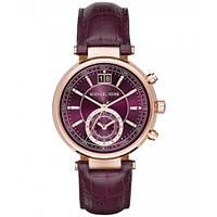 Часы Michael Kors Sawyer Plum Dial Chronograph MK2580