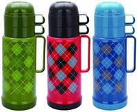 Вакуумный термос со стеклянной колбой Con Brio 1 л (голубой, красный с черным, зеленый)