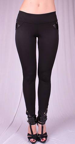 Женские леггинсы Fashion черные, р.38-58, фото 2