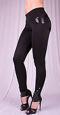 Женские леггинсы Fashion черные, р.38-58, фото 3