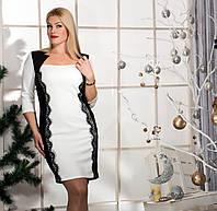 Женское платье с ажуром (48-56) 8060