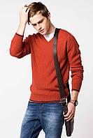 Мужской свитер De Facto кирпичного цвета