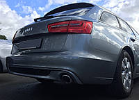 Юбка заднего бампера Audi A6 C7 Avant стиль S-line