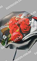 """Зонт женский """"Розы"""" 8 спиц на карбоне"""