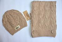 Разные цвета Ugg шапка + шарф вязаные для взрослых и подростков хлопок угг, фото 1