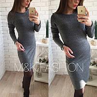 Женское модное платье с люрексом (2 цвета)