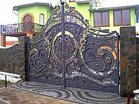 Производство кованых ворот на заказ в Херсоне с покраской доставкой и монтажом