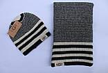 Разные цвета Ugg шапка + шарф вязаные для взрослых и подростков хлопок угг, фото 2