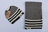 Разные цвета Ugg шапка + шарф вязаные для взрослых и подростков хлопок угг, фото 3