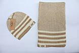 Разные цвета Ugg шапка + шарф вязаные для взрослых и подростков хлопок угг, фото 4