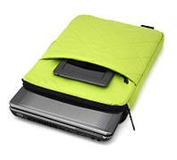 "Чехол для нетбука, планшета  LF1065GN до 13"" нейлон, салатовый, стеганая поверхность, размеры: 355х265х25"