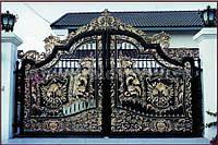 Заказать кованые ворота в Херсоне с покраской доставкой и монтажом