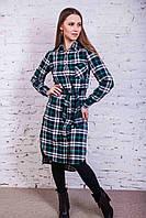Стильное женское рубашечное платье от производителя - зима-весна 2017 - Код пл-115, фото 1