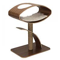 Дизайнерская когтеточка Hagen Vesper V-High Lounge Walnuss для кошек, 70 х 50 х 95 см