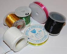 Силиконовая леска-резинка, силиконовый шнур, нить-резинка, вощеный шнур