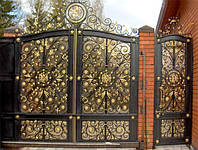 Купить ворота металлические с художественной ковкой в Херсоне с покраской доставкой и монтажом