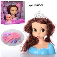 Кукла- голова для причесок ,18см, расческа, заколочки