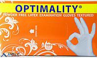 Перчатки латексные,Оптималити (Optimality, Maxter Glove Manufacturing) 50пар/шт.