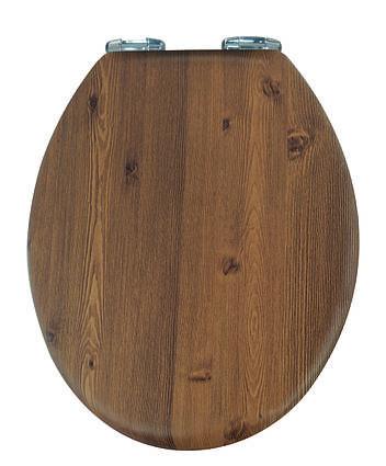 Кришка для унітазу під дерево з мікроліфтом Orzech AWD02181065