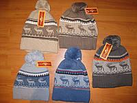 Тёплые шапки для мальчиков с оленями