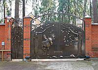 Производство ворот металлических с художественной ковкой в Херсоне с покраской доставкой и монтажом