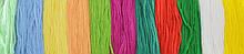 Нитки мулине, разноцветные