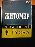 Мужской носок стрейч Житомир. Р. 25-27.Цвет- черный., фото 4