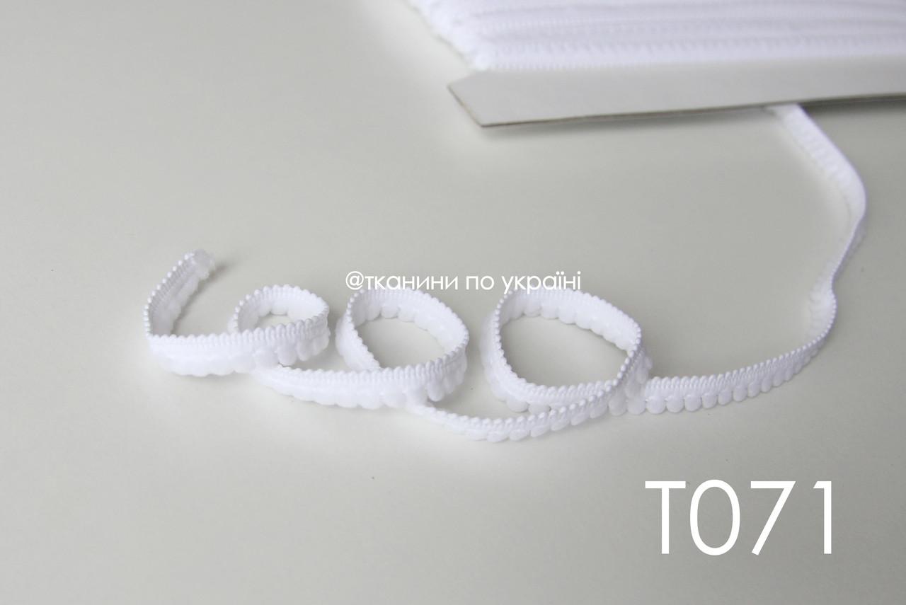 Тесьма со вставками белая 9 мм (Т071)