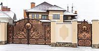 Художественная ковка ворот на заказ в Херсоне с покраской доставкой и монтажом