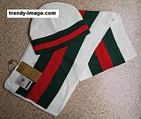 Разные цвета Gucci шапка + шарф вязаные для взрослых и подростков хлопок гуччи, фото 1