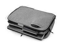 """Сумка для нетбука, планшета, iPad LF10225A до 13.3"""" полиэстер, серый, плечевой ремень"""