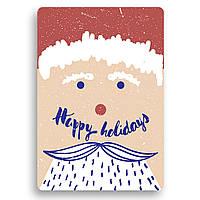 Дизайнерская открытка. Happy holidays