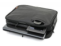 """Сумка для нетбука, планшета, iPad LogicFox LF10225BK  до 13.3"""" кожзам, черный, плечевой ремень"""